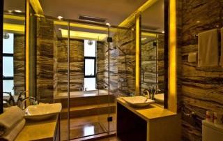 康健楼盘淋浴房:方圆明月山溪淋浴房工程